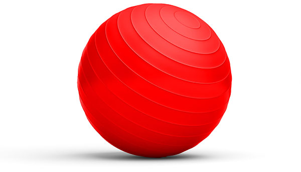 """an image of a red exercise ball"""